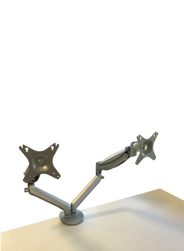 Image of Contour Ergonomics Easy Move Double Monitor Arm Silver CE77693