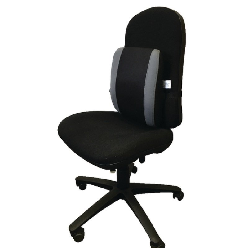 Image of Contour Ergonomics Premium Adjustable Lumbar Support Black /Grey CE77701