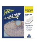 Sellotape Loop Strip 25mmx12m Removable - White