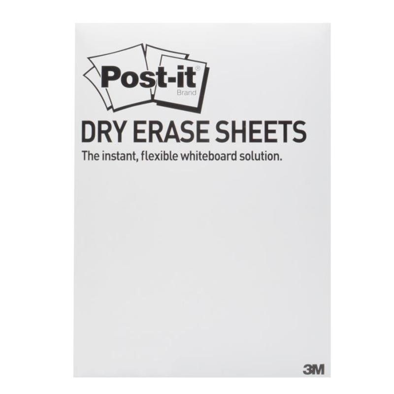 Post-it Dry Erase White Sheets 279 x 390mm Pack of 15 DEFPACKL-EU