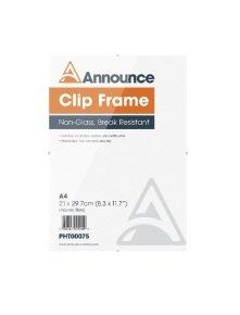Announce A4 Clip Frame