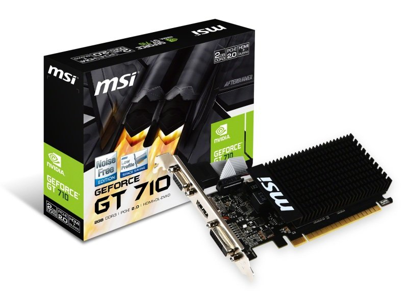 EXDISPLAY MSI GeForce GT 710 2GB DDR3 Low Profile Graphics Card