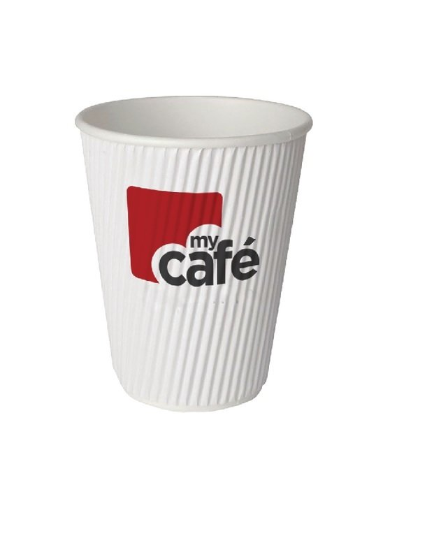 Mycafe 12oz Ripple Wall Hot Cups (Pack of 500)