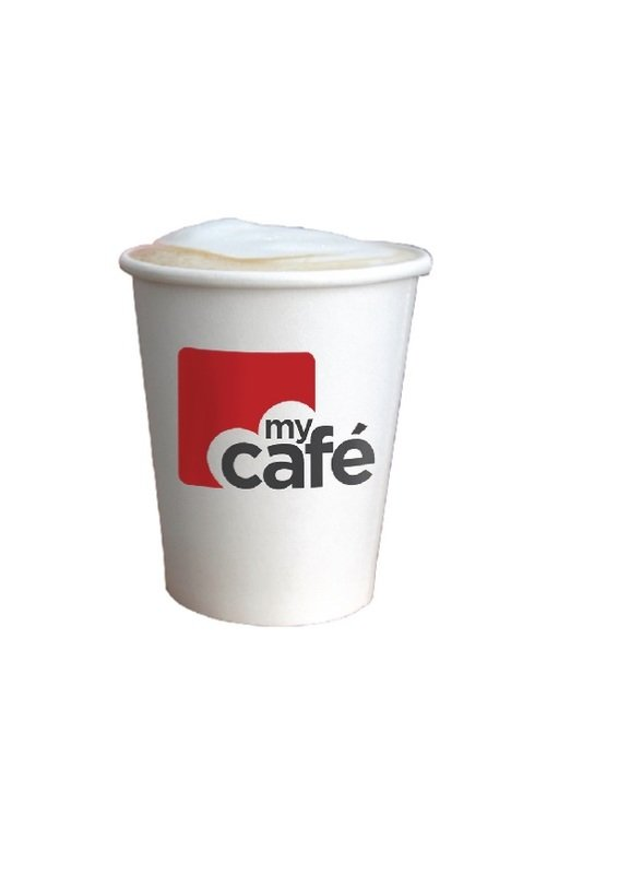 Mycafe 12oz Single Wall Hot Cups (Pack of 50)