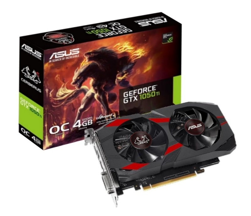 Asus Cerberus GTX 1050 Ti OC Edition 4GB GDDR5 Graphics Card