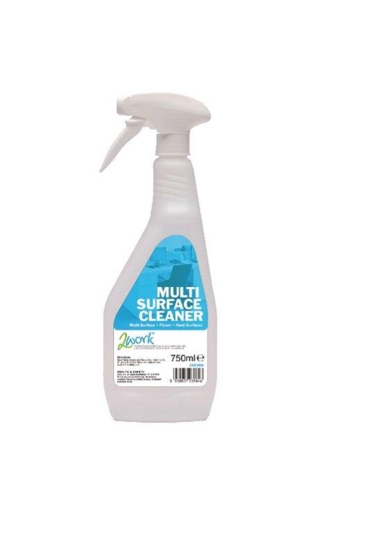 2Work MultiSurface Cleaner Trigger Spray 750ml (Pack of 6)