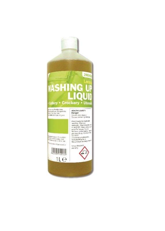 2Work Washing Up Liquid Lemon 1 Litre