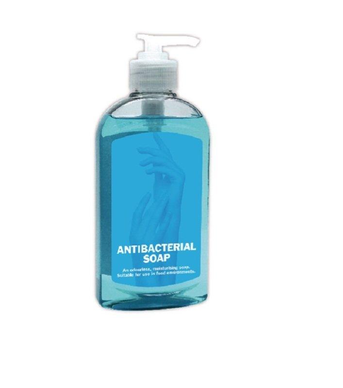 2Work Anti-bacterial Pump Hand Soap 300ml (Pack of 6) 2W30037
