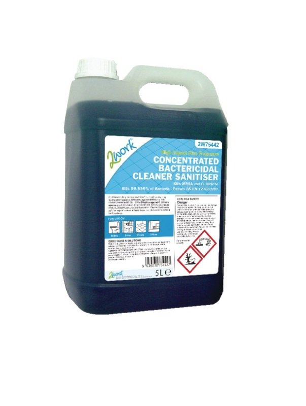 2Work Bactericidal Cleaner 5 Litre