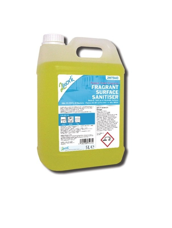 2Work Fragrant Surface Sanitiser 5 Litre