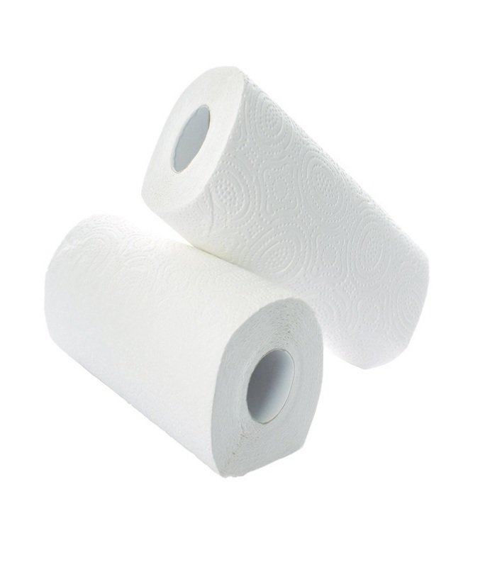 2Work Kitchen Roll (Pack of 2) x12 White