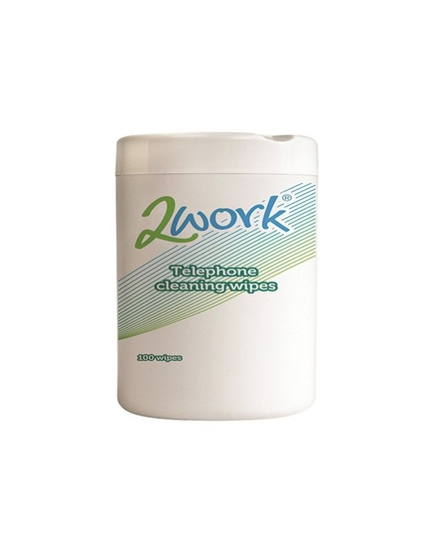 2Work Telephone Cleaning Wipes (Pack of 100)