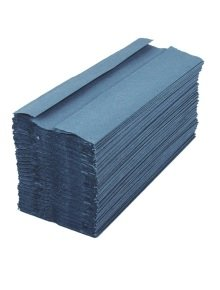 2Work Blue 1 Ply C-Fold Hand Towel (Pack of 2880)