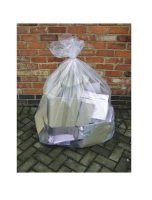 2Work Clear Wheelie Bin Liner (Pack of 100)