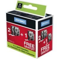 Dymo D1 Black and White Label - 3 for 2 bundle