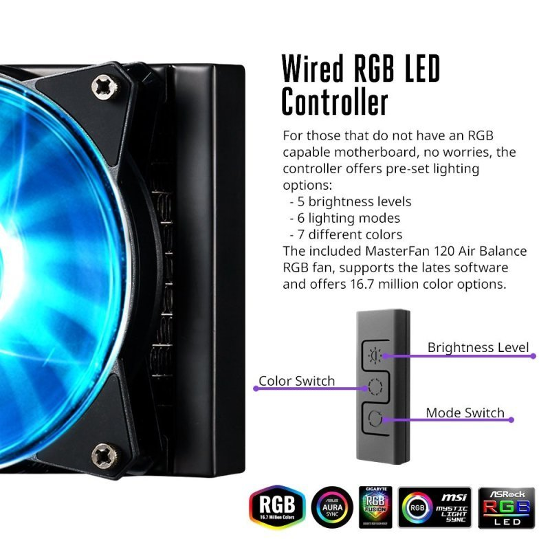 Cooler Master MasterLiquid ML240L RGB All-in-one CPU Li