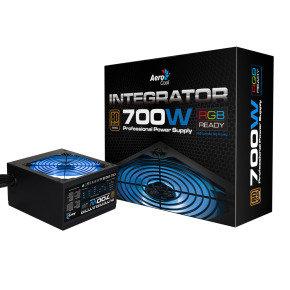 Aerocool Integrator 700W RGB PSU 12cm Black Fan Active PFC TW Caps UK Cable
