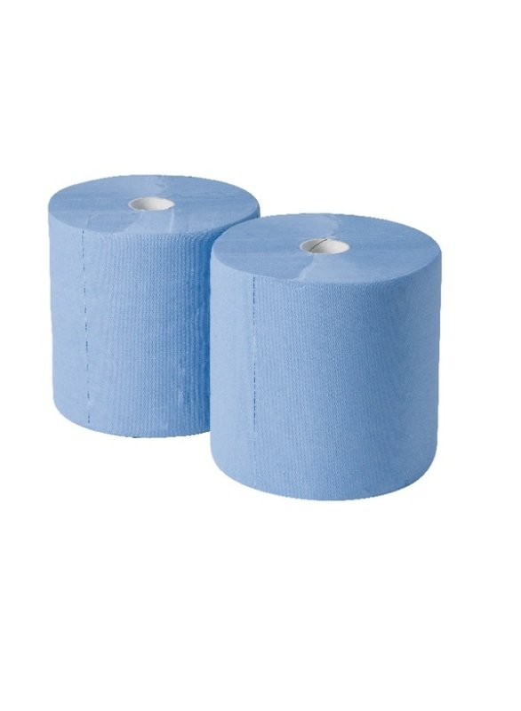 2work 3 Ply Industrial Roll Blue ( Pack of 2)