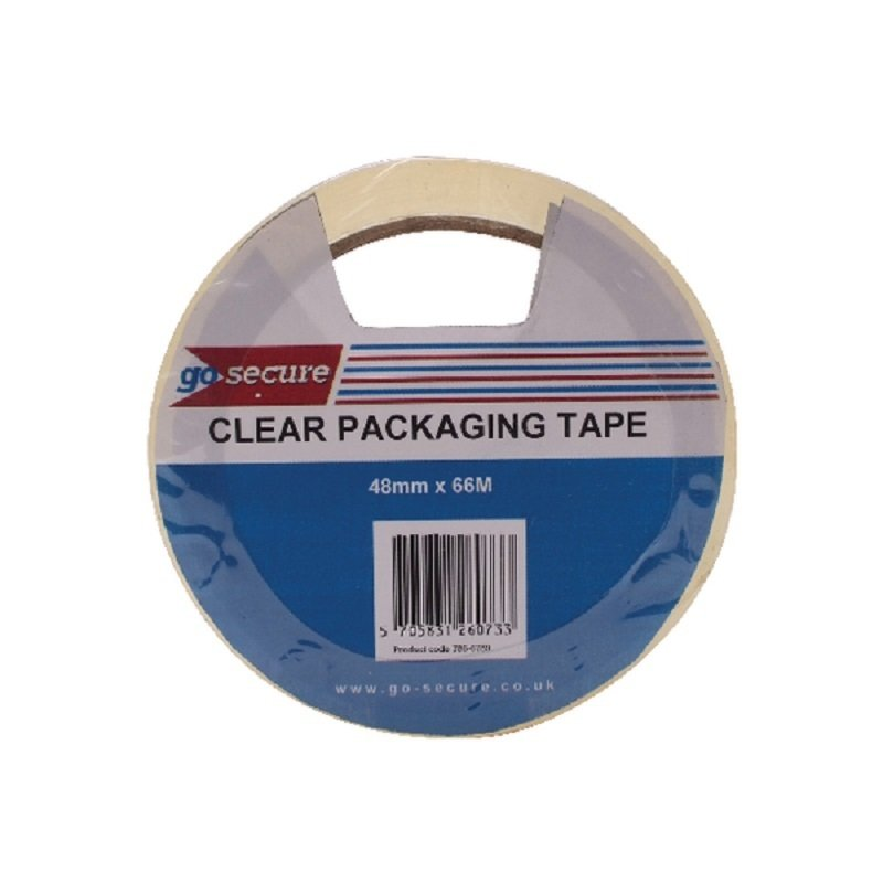 Go Secure Packaging Tape Clear (Pack of 6)