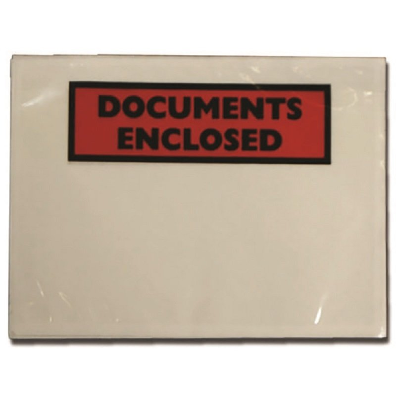 Image of Documents Enclosed DL Envelopes (Pack of 100)