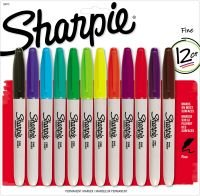 Sharpie Fine Tip Assorted Marker Pen - 12 Pack