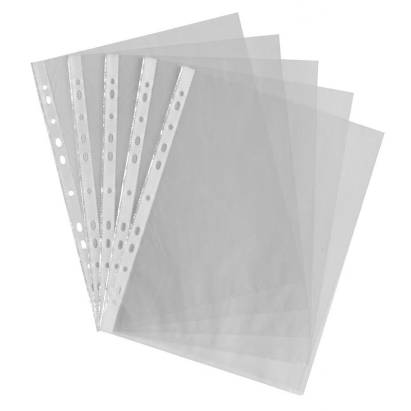 Value Punched Pockets A4 Glass Clear Pk100
