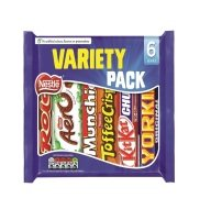 Nestle Variety 6 Pack Chocolate Bars 264g