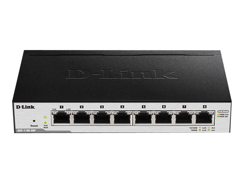 D-Link EasySmart Switch DGS-1100-08P 8 Port Managed Switch