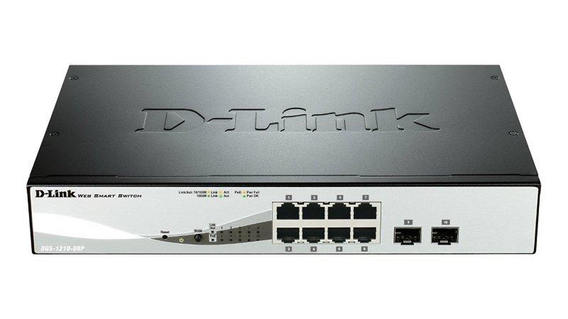 D-Link Web Smart DGS-1210-08P 8 Port Managed Switch