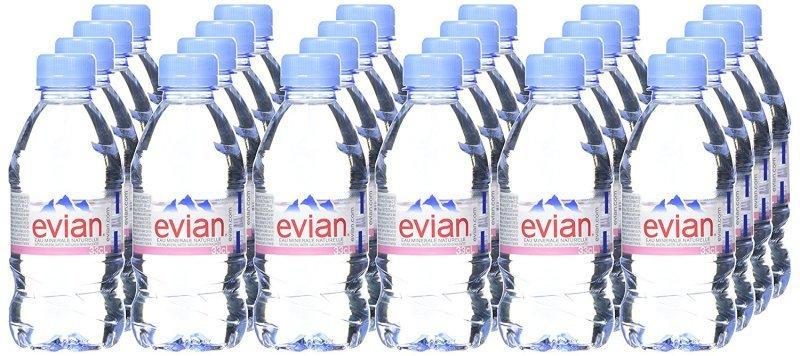 Evian Still Mineral Water 33cl bottle - 24 Pack