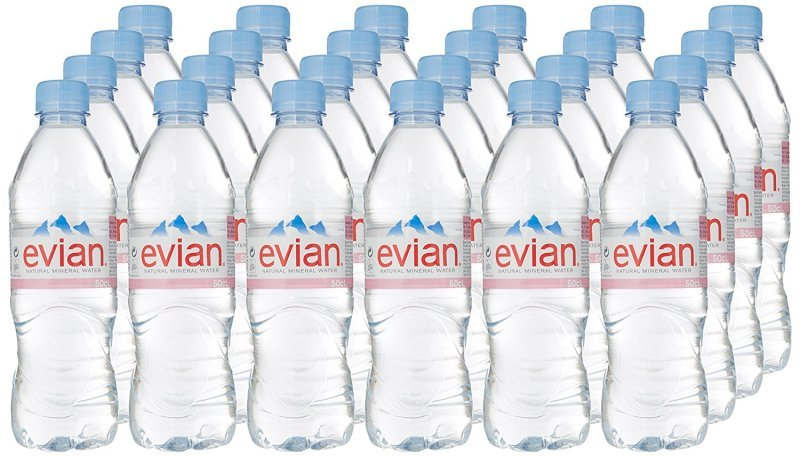 Image of Evian Still Mineral Water 500ml Bottle - 24 Pack