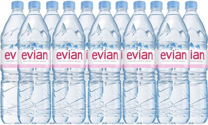 Evian Natural Spring Water 1.5 Litre (Pack of 12)