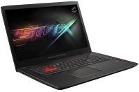 """EXDISPLAY ASUS ROG Strix GL702ZC Gaming Laptop AMD 6-Core Ryzen R5-1600 8GB DDR4 1TB HDD 256GB SSD 17.3"""" Full HD No-DVD AMD RX580 4GB WIFI Webcam Windows 10 Home 64bit"""