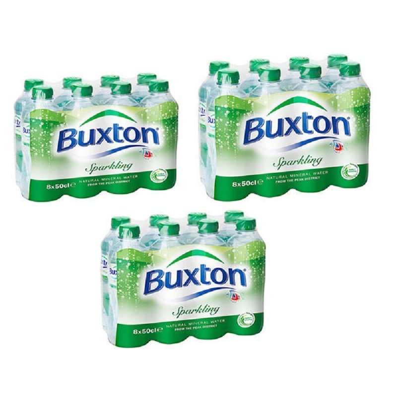 Buxton Sparkling Mineral Water 500ml - 24 Pack
