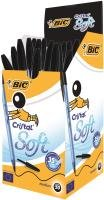 Bic Cristal Soft Ball Point Pens Black 50 Pack