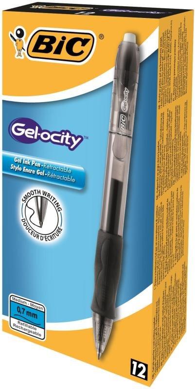 Bic Velocity Gel Black Black - 12 Pack