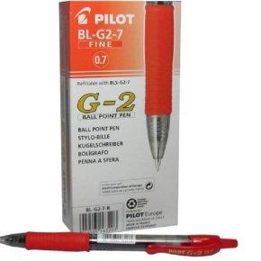 Pilot G207 Retractable Gel Red Pen (Pack of 12)