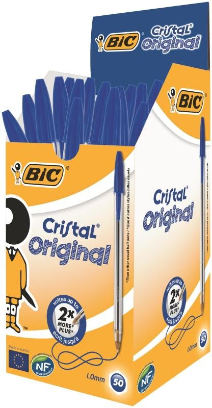 Bic Blue Cristal Soft Medium Ballpoint Pen (Pack of 50)