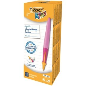 BIC Kids Learner Ball Pen Twist - Pink (Pack of 12)