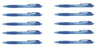 Q-Connect Retractable Ballpoint Blue Pen (Pack of 10)