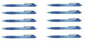 Q-Connect Retractable Ballpoint Blue Pen (Pack of 10)