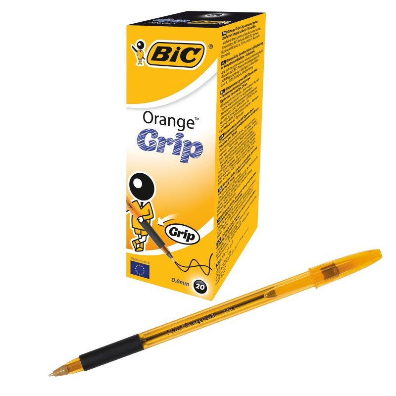 Bic Grip Ballpoint Black Pen (Pack of 20)