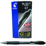 Pilot G207 Retractable Gel Black Pen (Pack of 12)