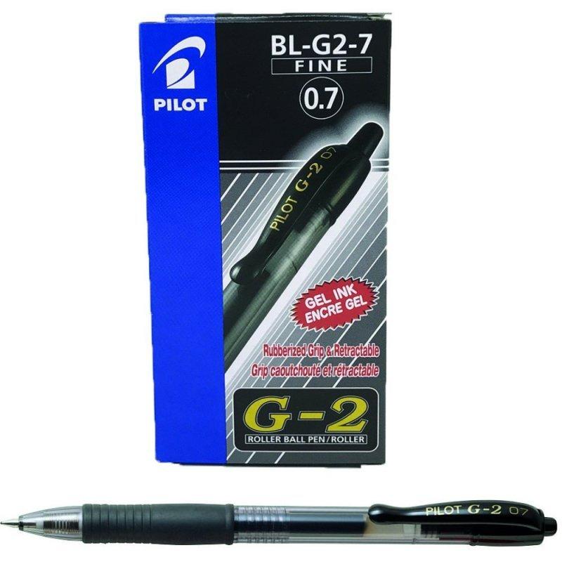 Pilot G207 Retractable Gel Black Pen (Pack of 12)