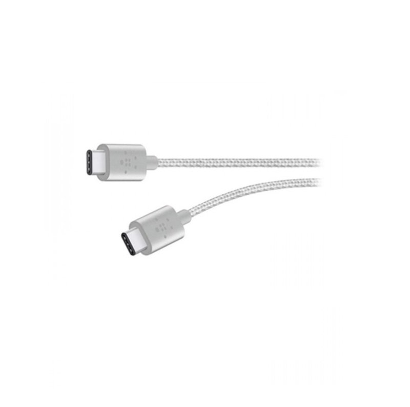 Belkin MIXIT Metallic USB-C to USB-C Charge Cable Silver 1.8M