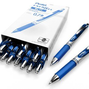 Pentel EnerGel Xm Liquid Gel Blue Pen (Pack of 12)