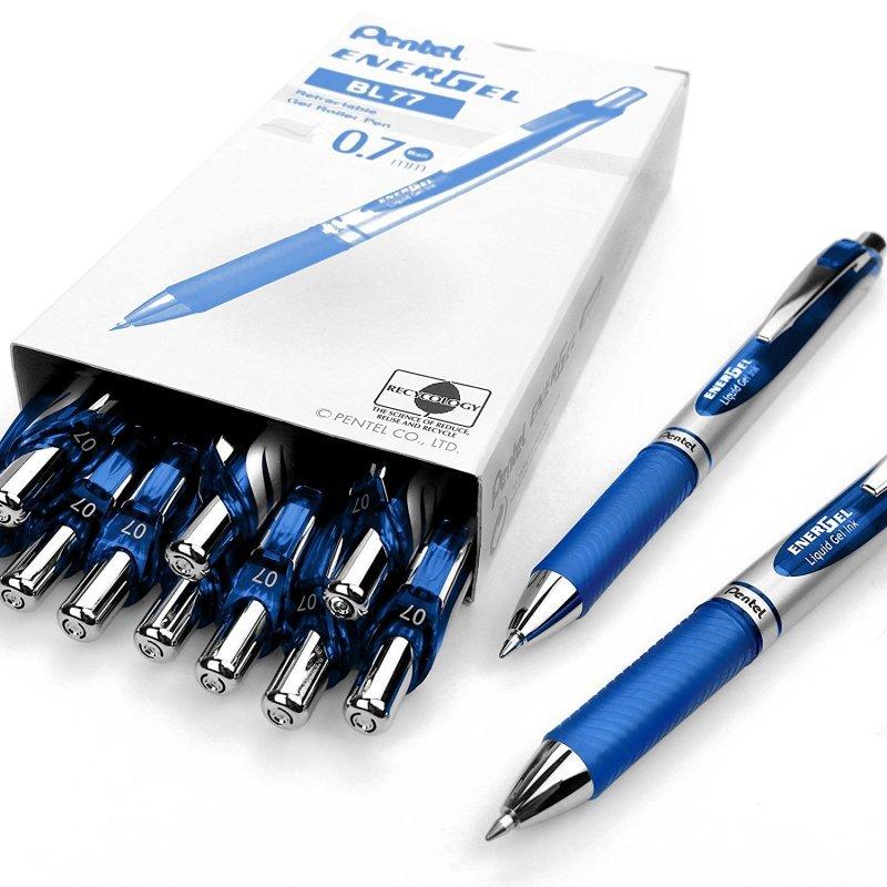 Pentel EnerGel Xm Liquid Gel Blue Pen (Pack of 12)