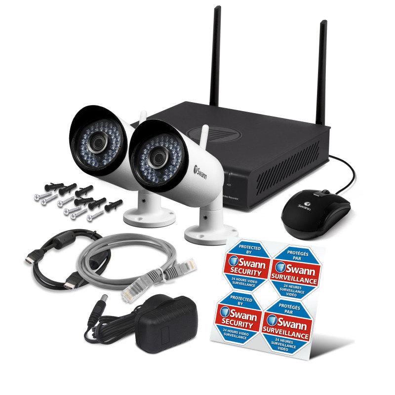 Swann 4channel X2 Camera 1080p Wi Fi Kit Ebuyer Com