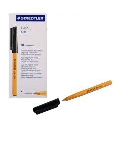 Staedtler Fine Black Stick Ballpoint Pen (Pack of 10)