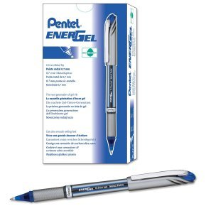 Pentel EnerGel Plus Rollerball Pen Blue (Pack of 12)